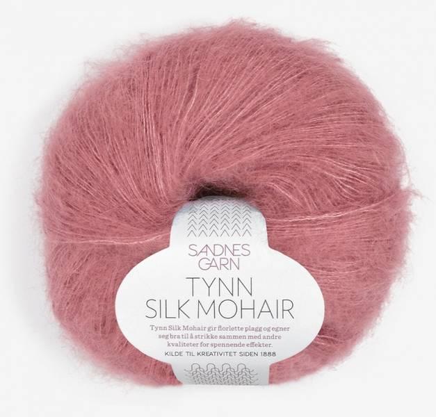 Tynn Silk Mohair 4244 Mørk Gammelrosa