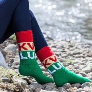 Bilde av Garnpakke Kvikk Lunsj sokker