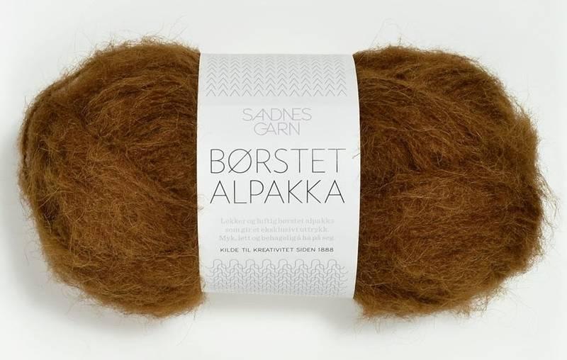 Børstet Alpakka 2564 Gyllenbrun