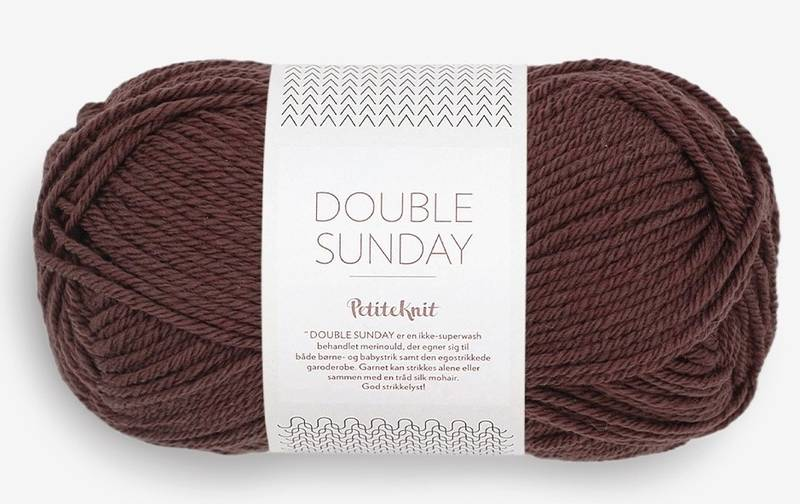 Double Sunday 4081 Petite Knit Coffee Bean